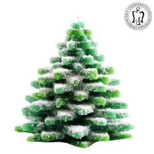 Vánoční svíčka - velký stromeček, Andělská svíčkárna, Christmas candle, Christmas tree large, Angels candles M08
